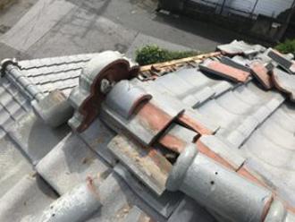 台風による棟の被害