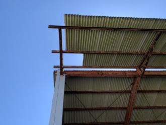 屋根材の飛散