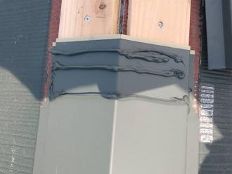 棟板金の防水処理