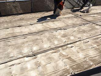 土葺き瓦屋根の下地