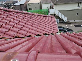 流山市向小金にて瓦屋根の雨漏り調査