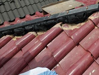 棟取り直し工事で下地材のタフモックを固定
