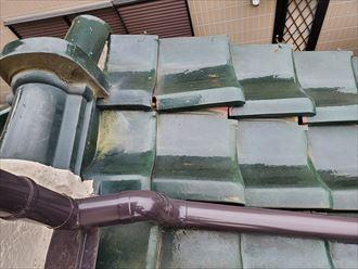 令和元年房総半島台風の影響で袖瓦がずれてしまいました