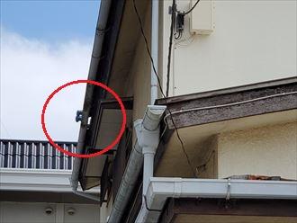 令和元年房総半島台風の影響で軒瓦が剥がれて落下する危険性があります