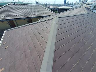 八千代市萱田町にてコロニアルネオの屋根調査