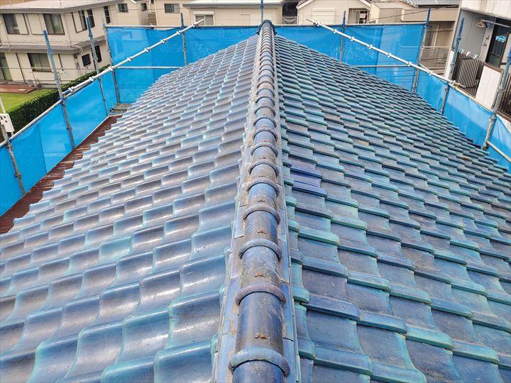 令和元年房総半島台風の被害を受けた瓦屋根の屋根葺き直し工事が完了