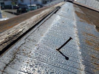 雨漏りの原因になる釘穴