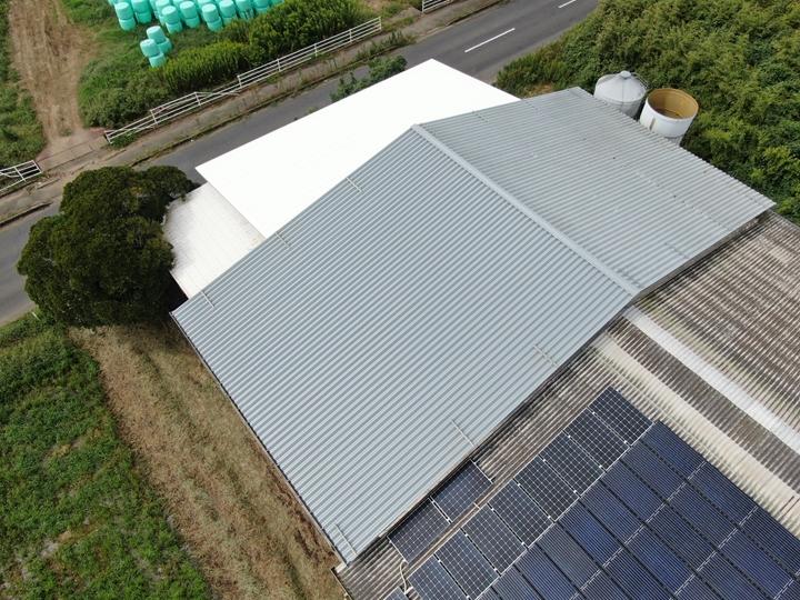 屋根葺き替え工事完了、ドローン撮影