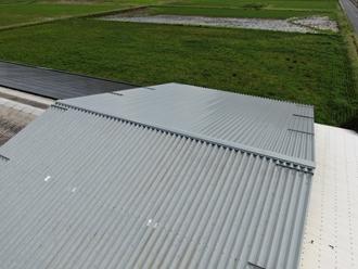 折半屋根工事、ドローン撮影