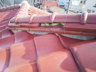 令和元年房総半島台風の影響でのし瓦が外れてしまいました