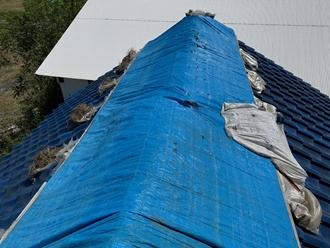 棟瓦の台風被害