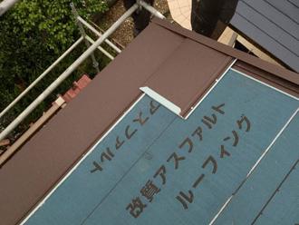 屋根材取り付け