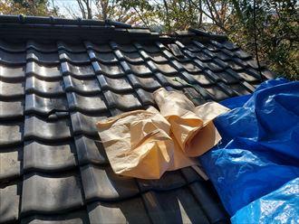 令和元年房総半島台風の影響で棟が崩れてしまいました