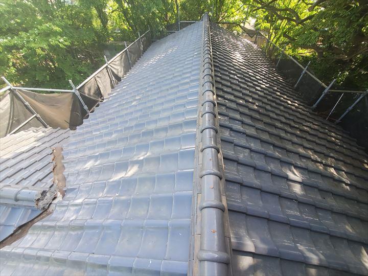 令和元年房総半島台風の影響で崩れてしまった棟の棟取り直し工事が完了