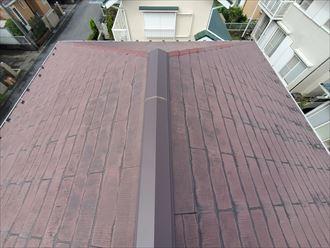 船橋市三咲にて防水性が低下したスレート屋根の調査を行いました
