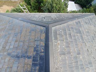船橋市芝山にて塗膜が剥がれたスレート屋根調査