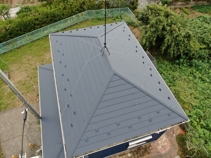 屋根カバー工事、1か月点検