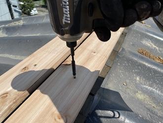新規貫板の設置