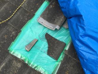 セメント瓦破損、葺き替え工事