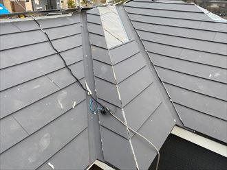 屋根葺き替え工事でスーパーガルテクトを使用