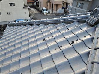 千葉市中央区にて棟の漆喰が剥がれてしまいました