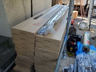 千葉市中央区にて行った屋根葺き替え工事でスーパーガルテクトを使用