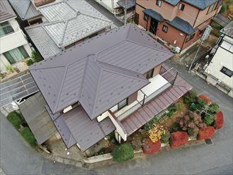 千葉市中央区にて行った屋根葺き替え工事が完了