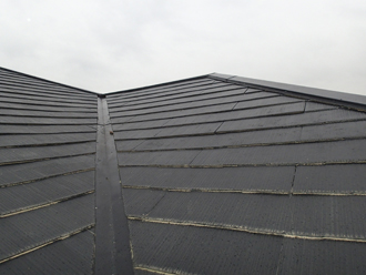 雨漏りしているアパートの屋根調査