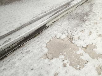 劣化が著しく雨漏りの発生している瓦棒陸屋根