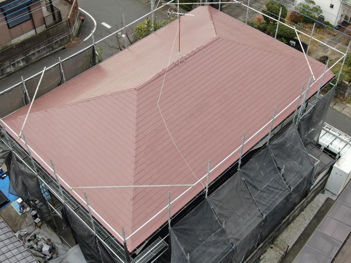 屋根塗装工事完工