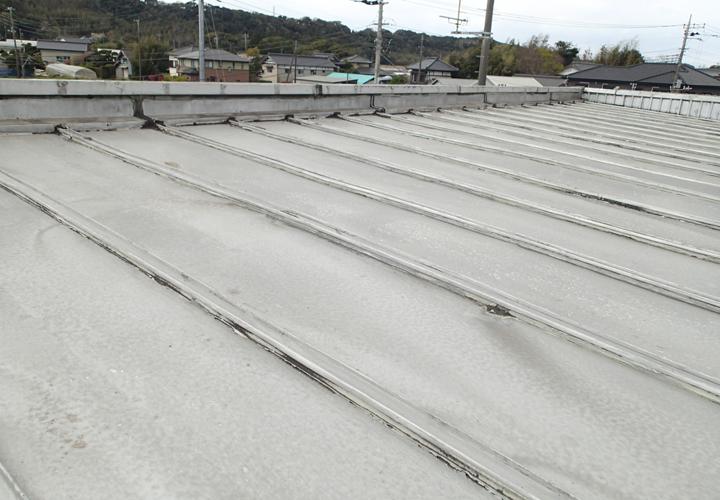 雨漏りの発生している瓦棒陸屋根