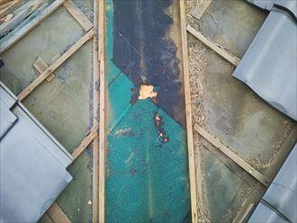 防水紙の劣化確認