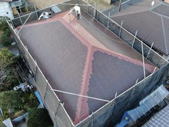 屋根塗装ドローン