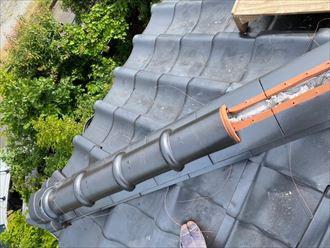 冠瓦の設置