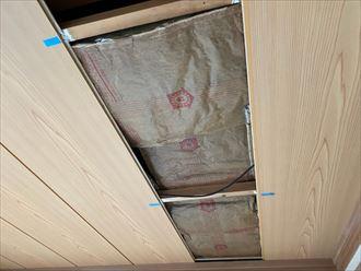 天井材張替と断熱材敷設