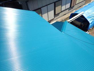 ガルバリウム鋼板での葺き替え工事