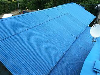 雨漏りが起きた波板屋根