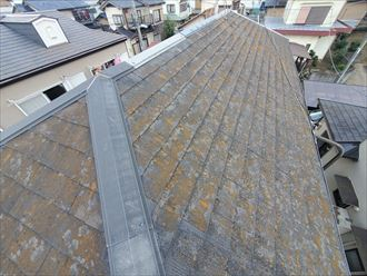 船橋市前原西にてスレート屋根調査