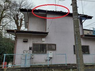 千葉市中央区にて令和元年房総半島台風の影響で瓦が飛散・落下