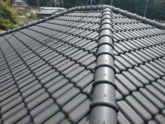八千代市米本にて漆喰が剥がれた瓦屋根の調査