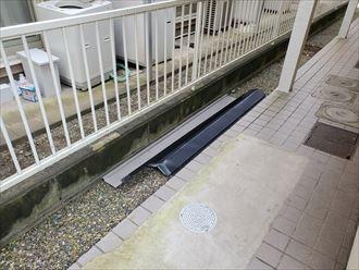 令和元年房総半島台風の影響で飛散した棟板金