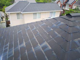 色褪せたスレート屋根調査