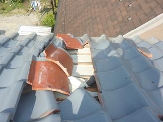 瓦屋根被害