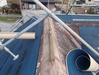 防水シート設置