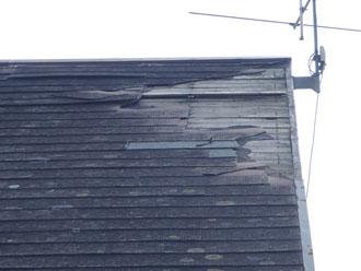 破損した屋根