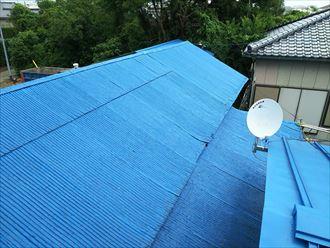波板屋根の経年劣化