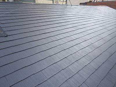 ファインパーフェクトベスト(ダークグレー)で塗り替えた屋根
