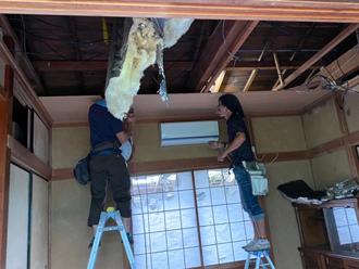 室内天井の張替え