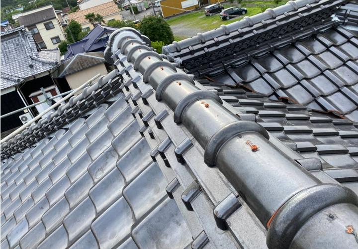 瓦屋根の復旧工事完了