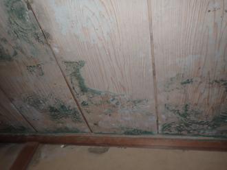 和室の天井にできたシミ